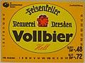 Felsenkeller Brauerei Dresden, Vollbier Hell Etikett (DDR).jpg