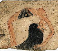 Female topless egyption dancer on ancient ostrakon.jpg