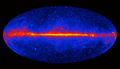 Fermi Gamma-ray Space Telescope 3 years of observations (energies larger than 1 GeV).png
