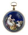 Fickur med boett av guld och miniatyrmålning, 1800 - Hallwylska museet - 110420.tif