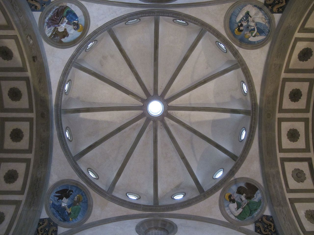 Dome of the Pazzi Chapel in Florence