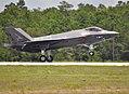 First F-35C Lightning II of VFA-101 lands at Eglin AFB 2013.jpg