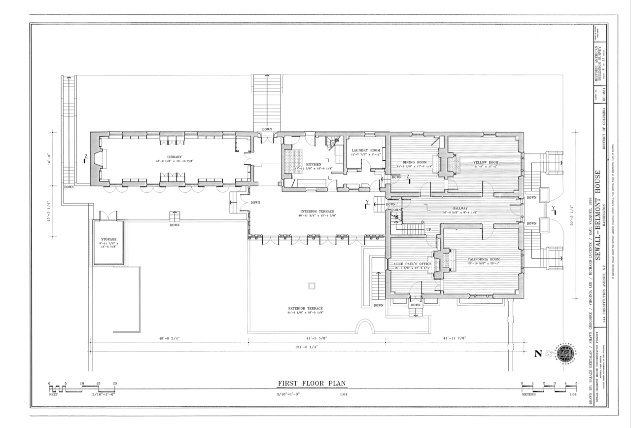 File First Floor Plan Sewall Belmont House 144