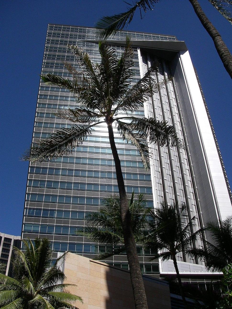 First Hawaiian Center Tower in Honolulu, Hawaii USA