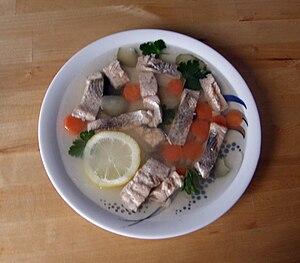 Fish in aspic, selbst fotografiert