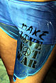 Flag Bodypaint Make Love Not War Bodyart (8498597667).jpg