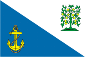 Lomonosovsky District, Leningrad Oblast - Image: Flag of Lomonosov rayon (Leningrad oblast)