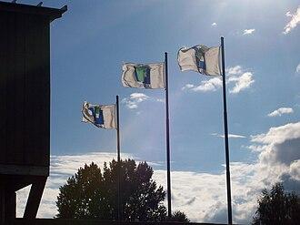 Lavaltrie, Quebec - Image: Flags of Lavaltrie, Quebec, Canada 20060920