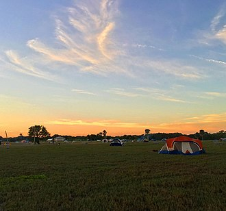 Flamingo, Monroe County, Florida - Flamingo Amphitheater camping popular during the Christmas-New Year Holidays.