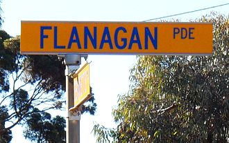 Thomas Flanagan (prospector) - The street in the suburb of Hannans, dedicated to Tom Flanagan in September 1981