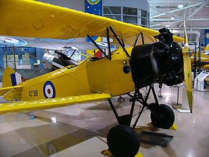 Fleet Finch - Fleet 16B Finch in the Canadian Warplane Heritage Museum Hamilton, Ontario - note centre-hinged main LG radius rods