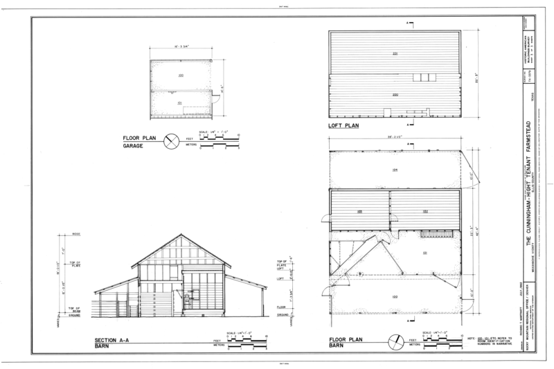 File Floor Plan Of Garage And Barn Loft Plan And Section