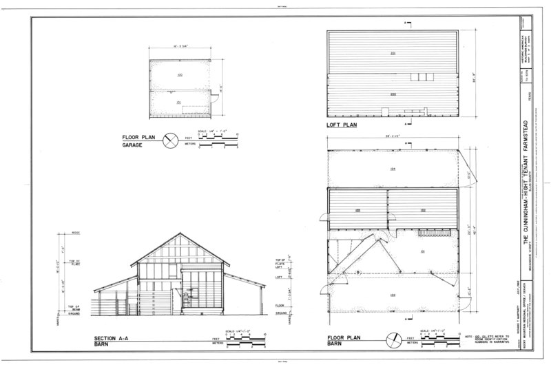 File Floor Plan Of Garage And Barn Loft Plan And Section Of Barn Cunningham Hight Tenant