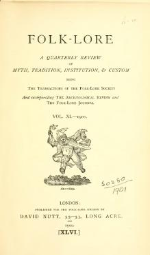 Folk-lore - A Quarterly Review. Volume 11, 1900.djvu