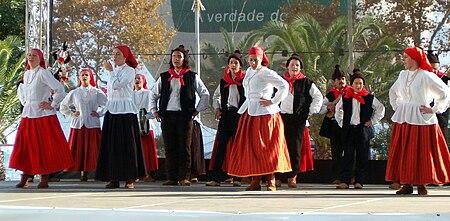 Выступление одной из фольклорных групп