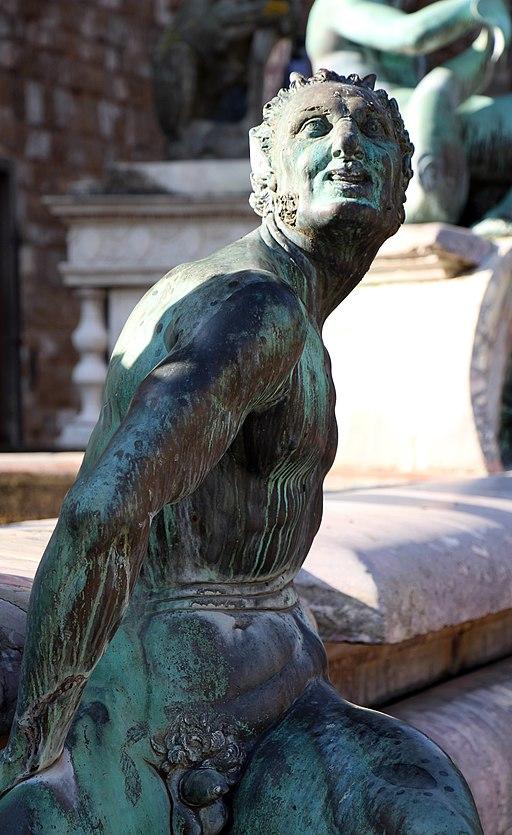 Giambologna e Bartolomeo Ammannati, Fontana del Nettuno (particolare delle statue in bronzo del Giambologna), Piazza della Signoria, Firenze