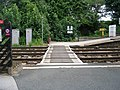 Foot Crossing between Platforms 1 and 2 - Woodlesford Station - geograph.org.uk - 841865.jpg