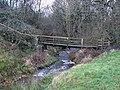 Footbridge over Shield Burn - geograph.org.uk - 628615.jpg