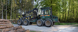 Forwarder - Forestry Forwarder Ösa 250.