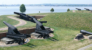Defenders Day - The cannons of Ft. McHenry guarding Baltimore harbor