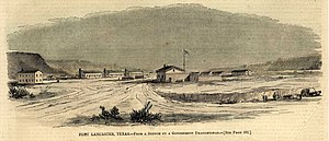Fort Lancaster - Sketch of Fort Lancaster from 1861