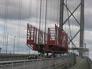 Forth Road Bridge - An inspection of the integrity of the cables under way on the bridge