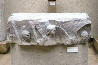 Forum of Theodosius - Marble fragment of monumental column to emperor Theodosius I