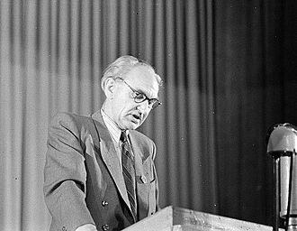 Heinrich Rau - Rau giving a speech in Leipzig, 1950