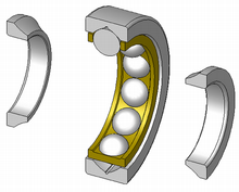 A 4 point angular contact ball bearing