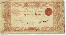 5 000 francs rouge, Face recto