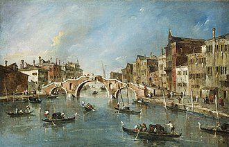 Francesco Guardi - View on the Cannaregio Canal, Venice, c. 1775-1780, National Gallery of Art