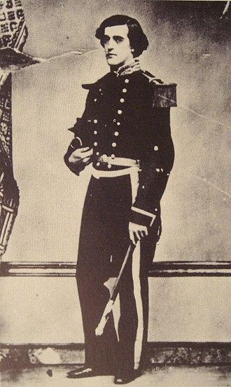 """Francis Garnier - Francis Garnier, as an """"Enseigne de vaisseau""""."""