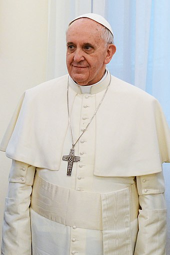 Francis, the first pope from the New World, was born and raised in Argentina. Francis 2013.jpg