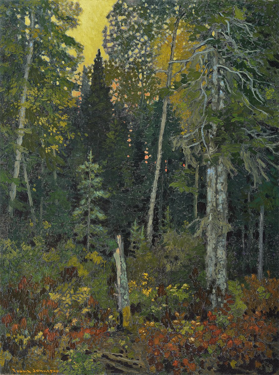 Frank Johnston Sunset in the Bush