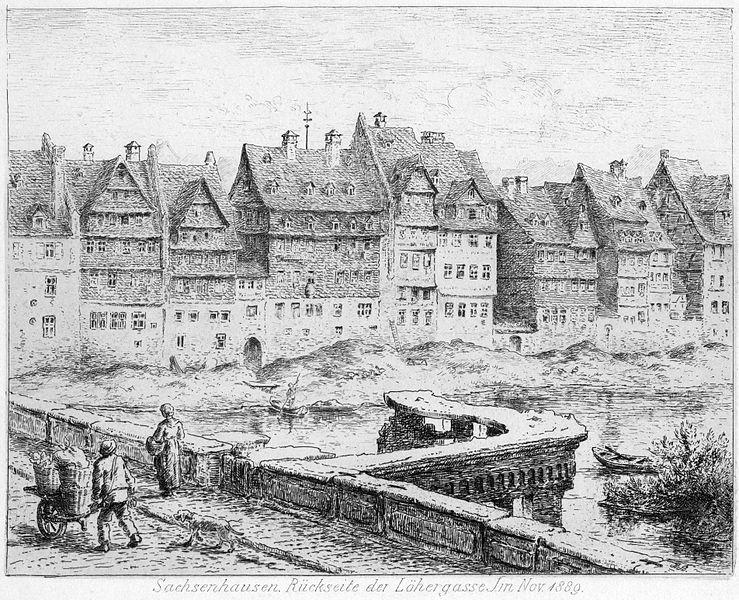 File:Frankfurt Am Main-Bertha Bagge-ADAFRVBB-Sachsenhausen Rueckseite der Loehergasse-1889.jpg