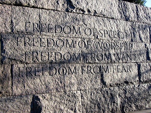 Franklin Delano Roosevelt Memorial Four Freedoms