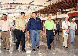Iloilo International Airport - Senator Franklin Drilon inspecting the construction of the Iloilo International Airport in late September 2006.