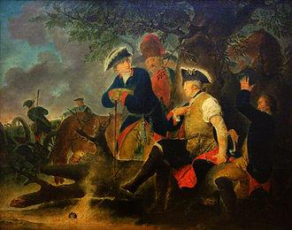 War of the Bavarian Succession - Image: Friedrich der Grosse und der Feldscher