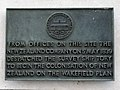 From offices on this site the New Zealand Company on 5 May 1839 despatched the survey ship Tory to begin the colonisation of New Zealand on the Wakefield Plan.jpg