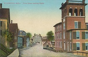 Richmond, Maine - Image: Front Street Looking North, Richmond, ME