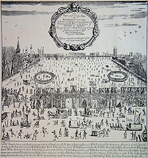 1683 in England - River Thames frost fair