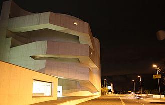 Iberê Camargo Foundation - Iberê Camargo Foundation museum at night.