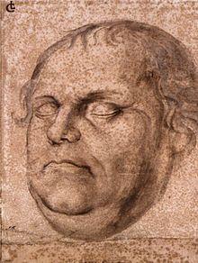 Porträt Luthers nach seinem Tod (Lukas Furtenagel) (Quelle: Wikimedia)