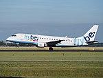 G-FBJI Flybe Embraer ERJ-175STD (ERJ-170-200) - cn 17000355 takeoff from Schiphol (AMS - EHAM), The Netherlands pic2.JPG