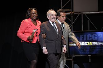 Gabriel García Márquez - García Márquez with the Colombian Culture Minister Paula Moreno (left) at the Guadalajara International Film Festival, in Guadalajara, Mexico, in March 2009