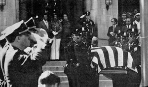 Gail Cobb - Cobb's casket being carried by pallbearers at her funeral in 1974