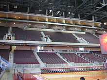 Interior With Premium Seating On Third Level The Galen Center S