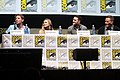 Gareth Edwards, Elizabeth Olsen, Aaron Taylor-Johnson & Bryan Cranston.jpg