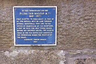 Iain Macleod - Gargrave churchyard