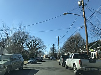 Gateway (Washington, D.C.) - Gateway, looking west on Adams St. NE. February 2019